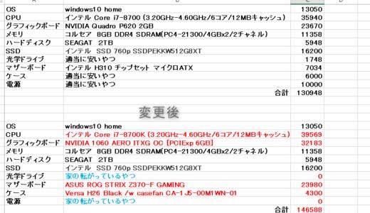 マザーボードとCPUとグラフィックボード。